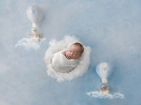 Newborn Digital Backdrop - Dreamy Little Clouds