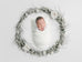 Newborn Digital Backdrop - White Flower Wreath