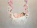 Digital Backdrop Newborn Photography - Ariana Floral Swing