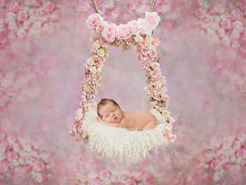 Digital Newborn backdrop - Floral Swing - TILLY x 2