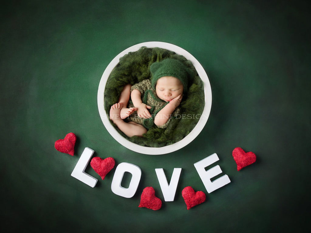 Newborn Digital Backdrop for girls or boys - Love and Hearts