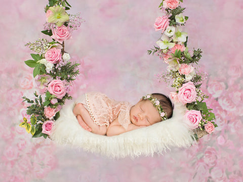 Newborn digital backdrop - Nikita swing
