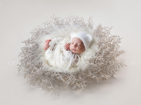 Christmas Digital Backdrop -  Sparkly Christmas Nest