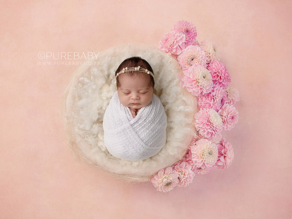 Newborn Digital Backdrop - Dahlia nest - Instant Download