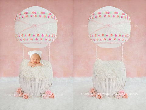 Newborn Digital Backdrop - Hot Air Balloon - Sophie