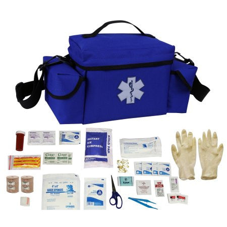 Ultimate Arms Gear Blue Compact Emergency Medical Supplies Survival Rescue Bag Pack Kit + First Aid - Apocoprepp