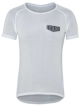 Cycology Mens White Cycling Base Layer | Cycology Clothing