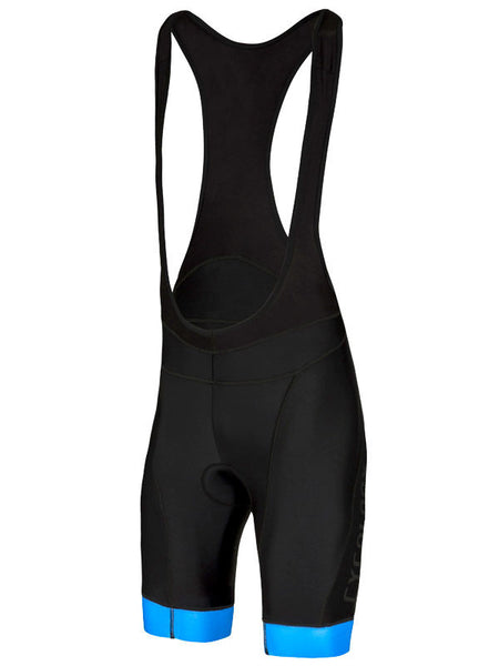 Cycology Mens Logo Black Blue Bib Shorts