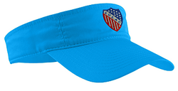 Visor with LULAC logo embroidered