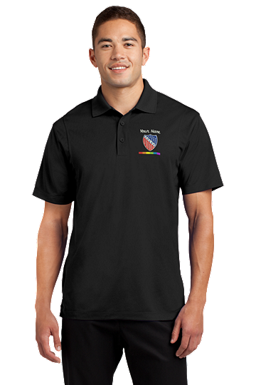 Rainbow Stripes Embroidered Polo