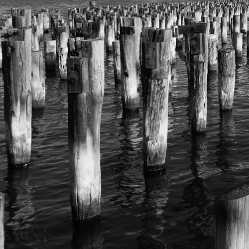 The Pier 4-6 - Melbourne.Monochrome