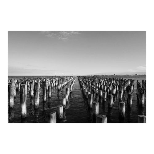 The Pier - Melbourne.Monochrome