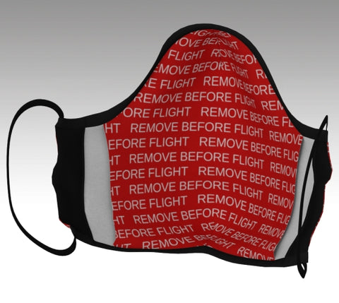 Remove Before Flight Cotton Face Mask