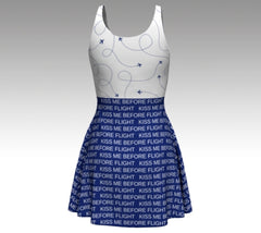 Kiss Me Before Flight Flare Dress