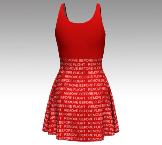 Remove Before Flight Flare Dress
