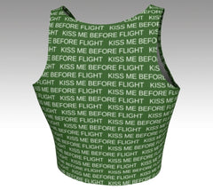 Kiss Me Before Flight- Crop Top