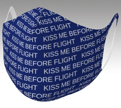 Kiss Me Before Flight Poly Stretch Face Mask (non-medical)