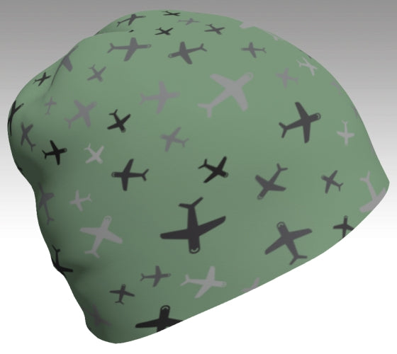 Winter Bamboo Beanie - Plane Fun