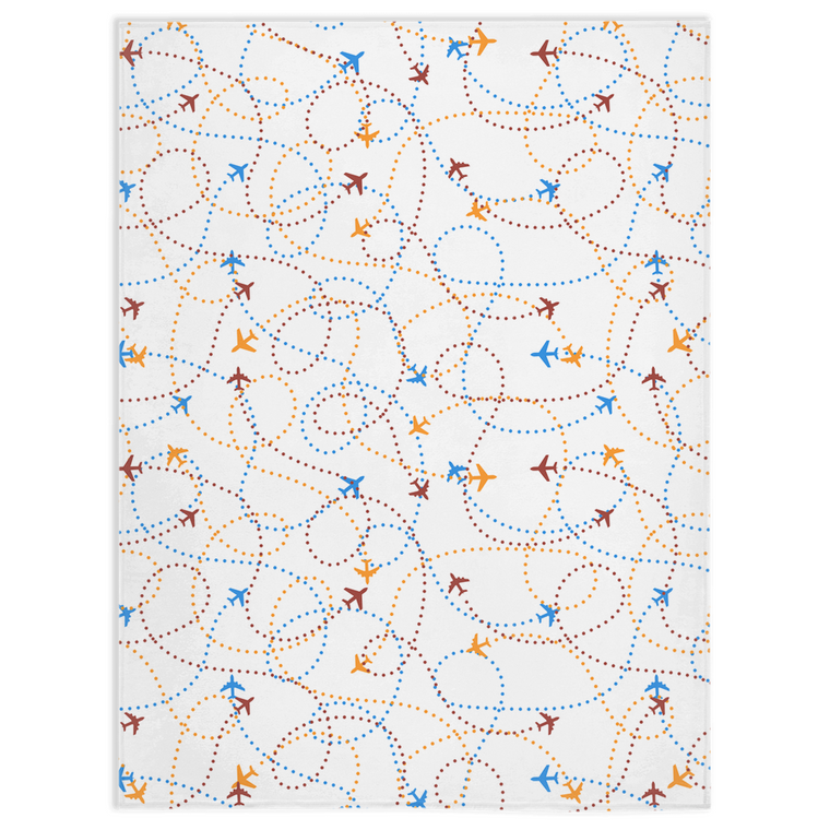 Travel Fleece Blanket - Flight Path