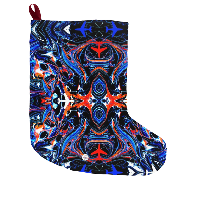 Mystic Airplane Christmas Stocking