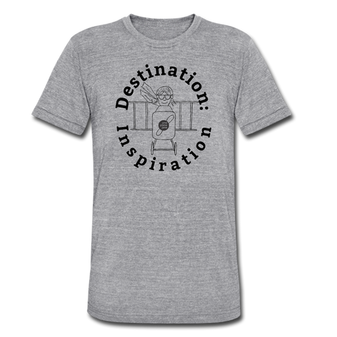 Destination: Inspiration - Unisex Tee - heather gray