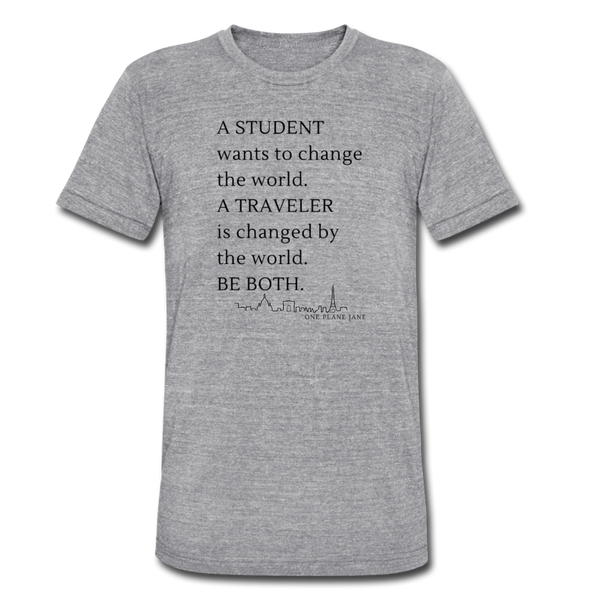 Student Traveler - Unisex Tee - heather gray