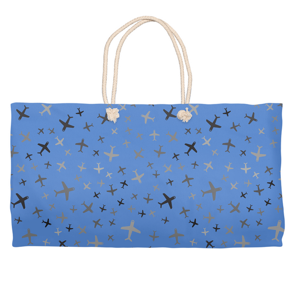 Plane Fun Two-Toned Weekender Tote