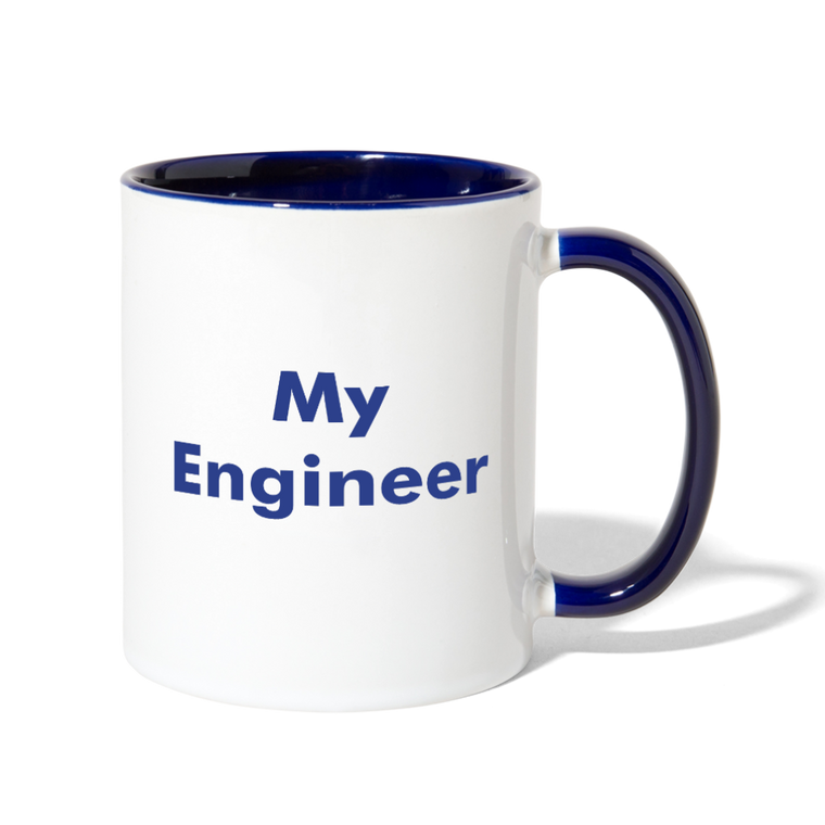 I Love My Engineer Contrast Coffee Mug - Blue