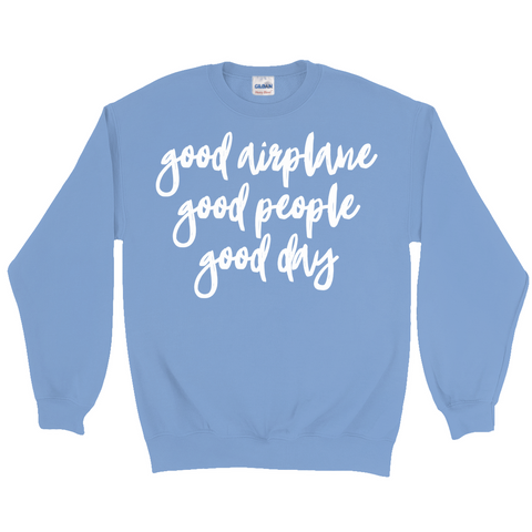 Good Airplane Basic Sweatshirt