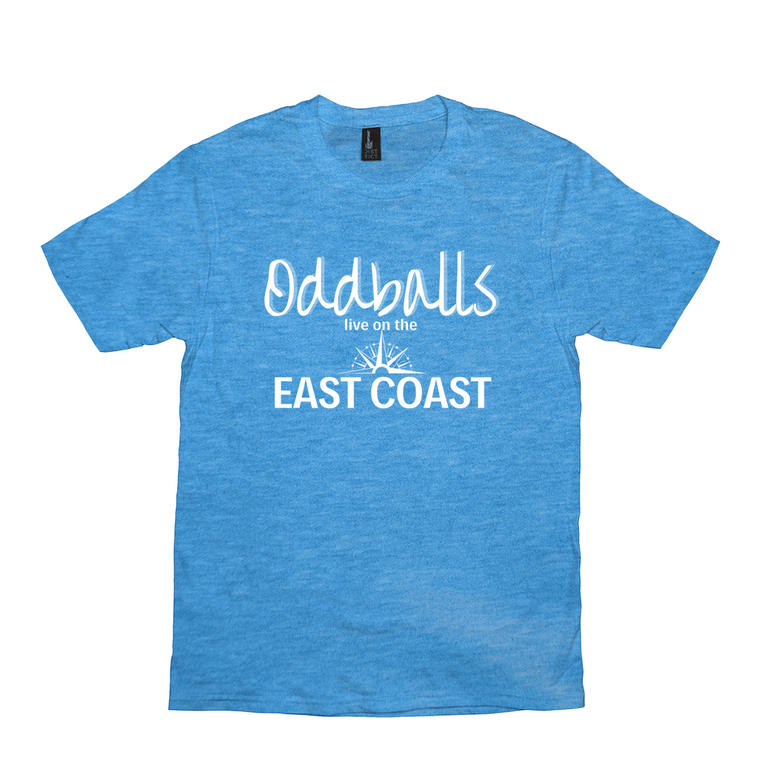 Oddballs Live on the East Coast Unisex Tee
