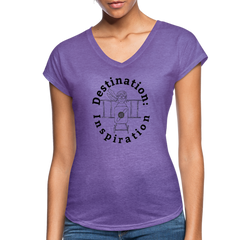 Destination: Inspiration - Women's V-Neck Tee - purple heather