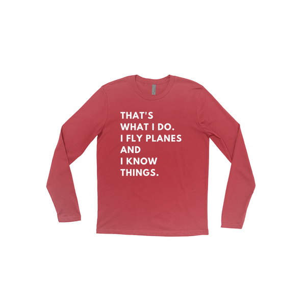 I Fly Planes - Triblend Unisex Long Sleeve Tee