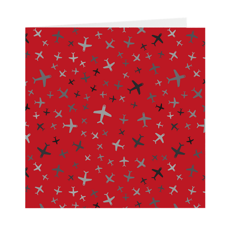 Plane Fun Blank Square Cards