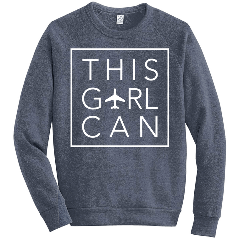 This Girl Can Raglan Sweatshirt