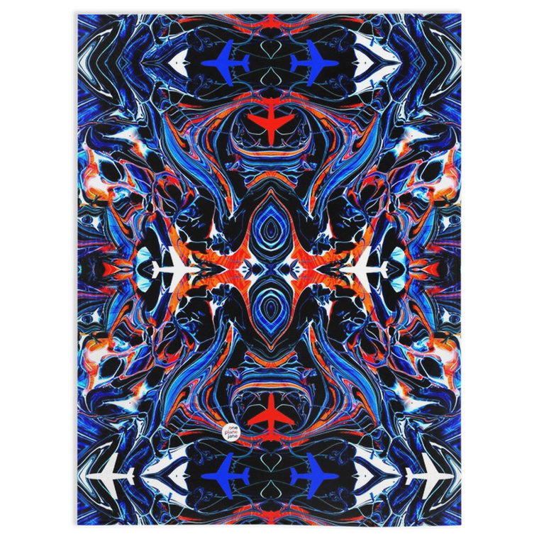 Travel Fleece Blanket - Mystic Planes