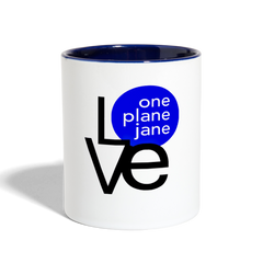 I Love My Engineer Contrast Coffee Mug - Blue - white/cobalt blue