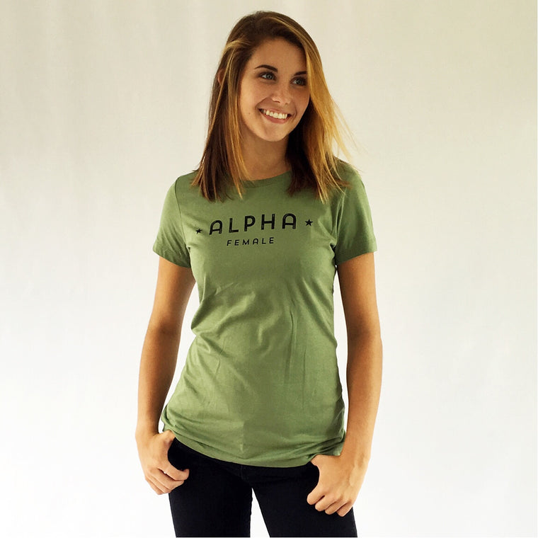 ALPHA FEMALE Cotton Tee Fatigue Green