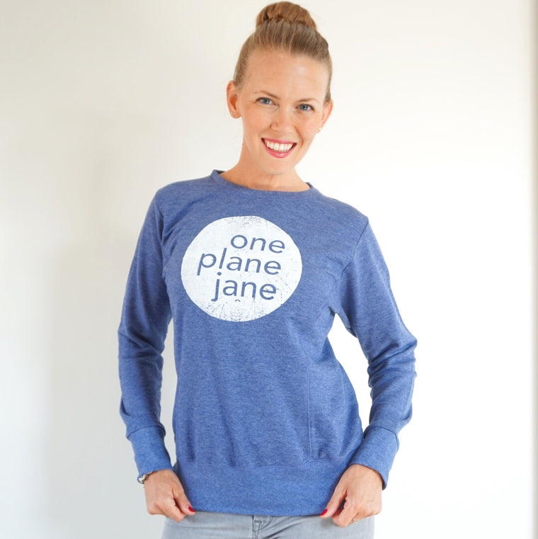 One Plane Jane Graphic Logo Sweatshirt
