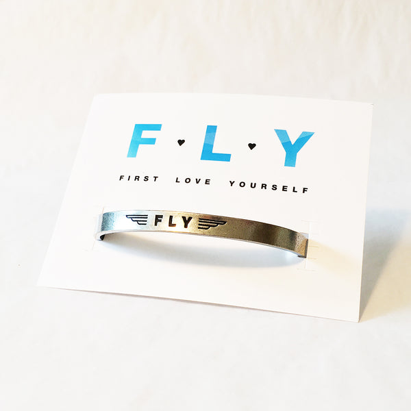 604799628cef9 FLY- First Love Yourself Cuff Bracelet - Shop Jewelry