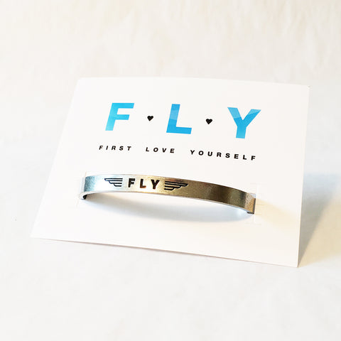 FLY - First Love Yourself Adjustable Cuff Bracelet