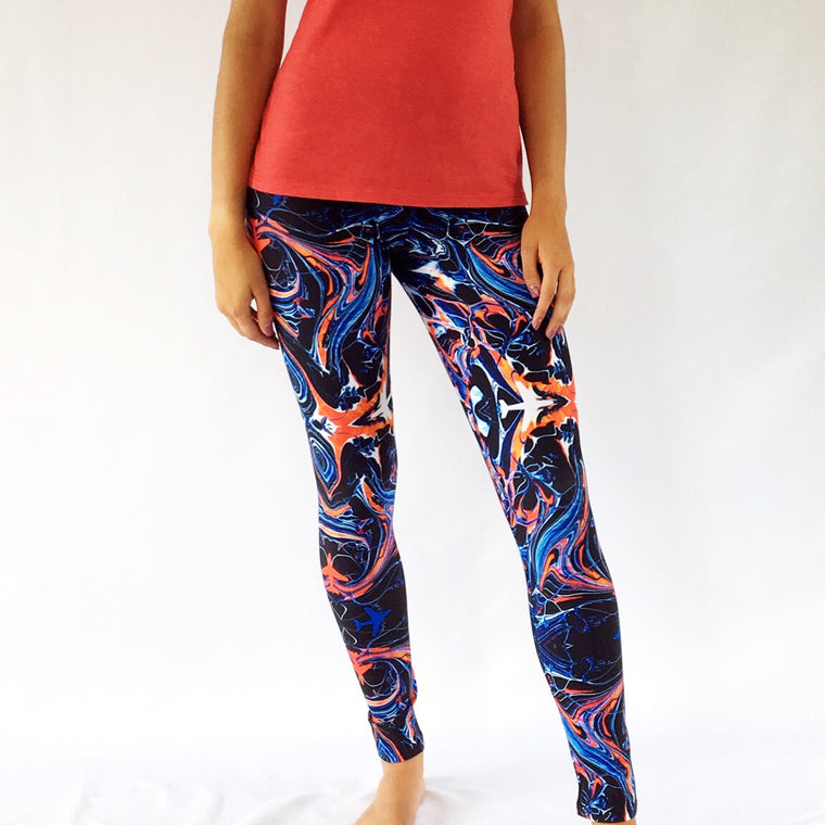 Mystic Airplane Yoga Leggings