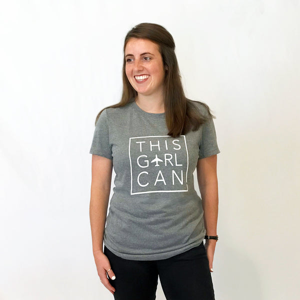 THIS GIRL CAN Tri-blend Tee Grey - Junior Fit