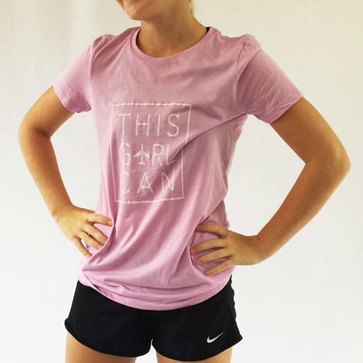 This Girl Can Girls Tri-Blend Tee Lilac