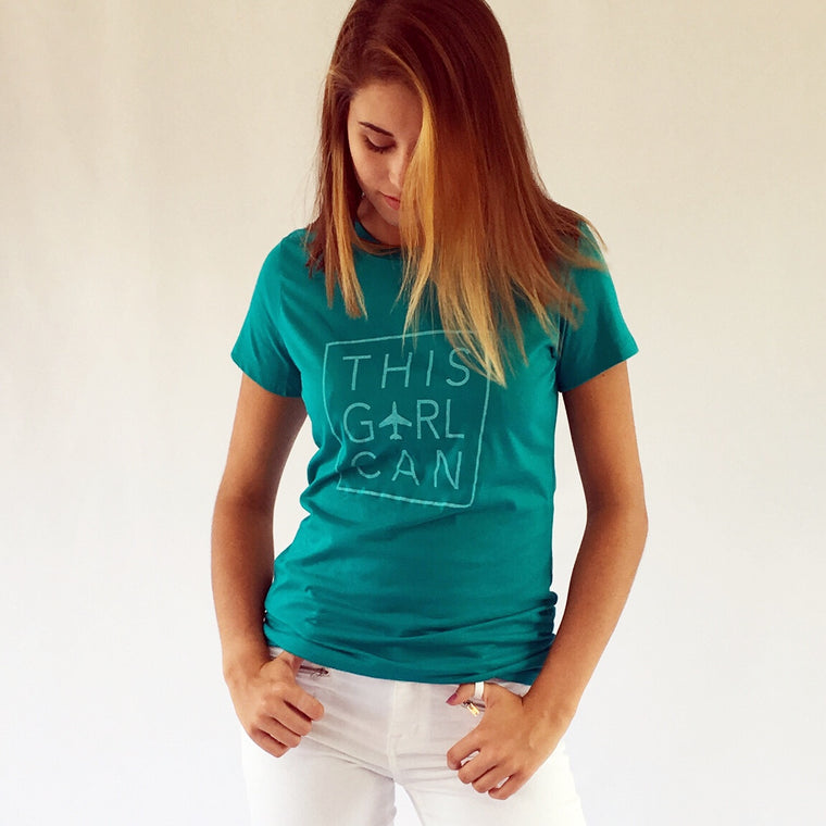 THIS GIRL CAN Cotton Tee Jade