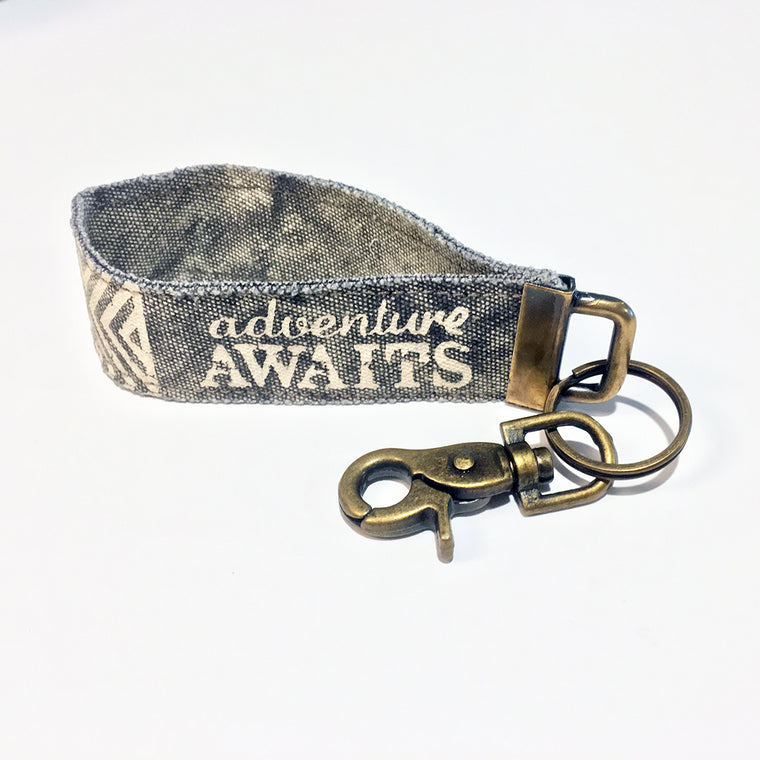 Adventure Awaits Key Chain Lanyard