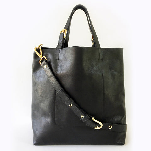 ALPHA Leather Pilot Tote Bag with Organizer