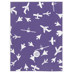 Travel Fleece Blanket - Soar in Purple and Blue