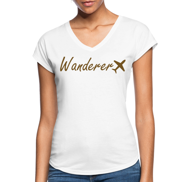 Wanderer Women's V-neck Tee - white