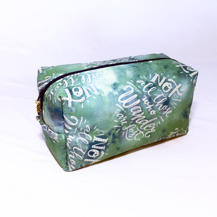 Cosmetic Bag & Travel Pouch - Not All Who Wander Are Lost