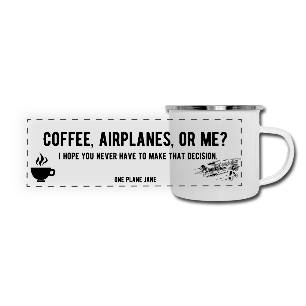 Aeronautical Decision Making Enamle Mug - white